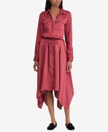 2545154a178 Lauren Ralph Lauren Twill Shirtdress - Rich Cranberry 14