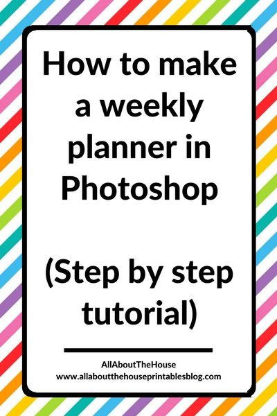 how to make a weekly planner in photoshop step by step tutorial