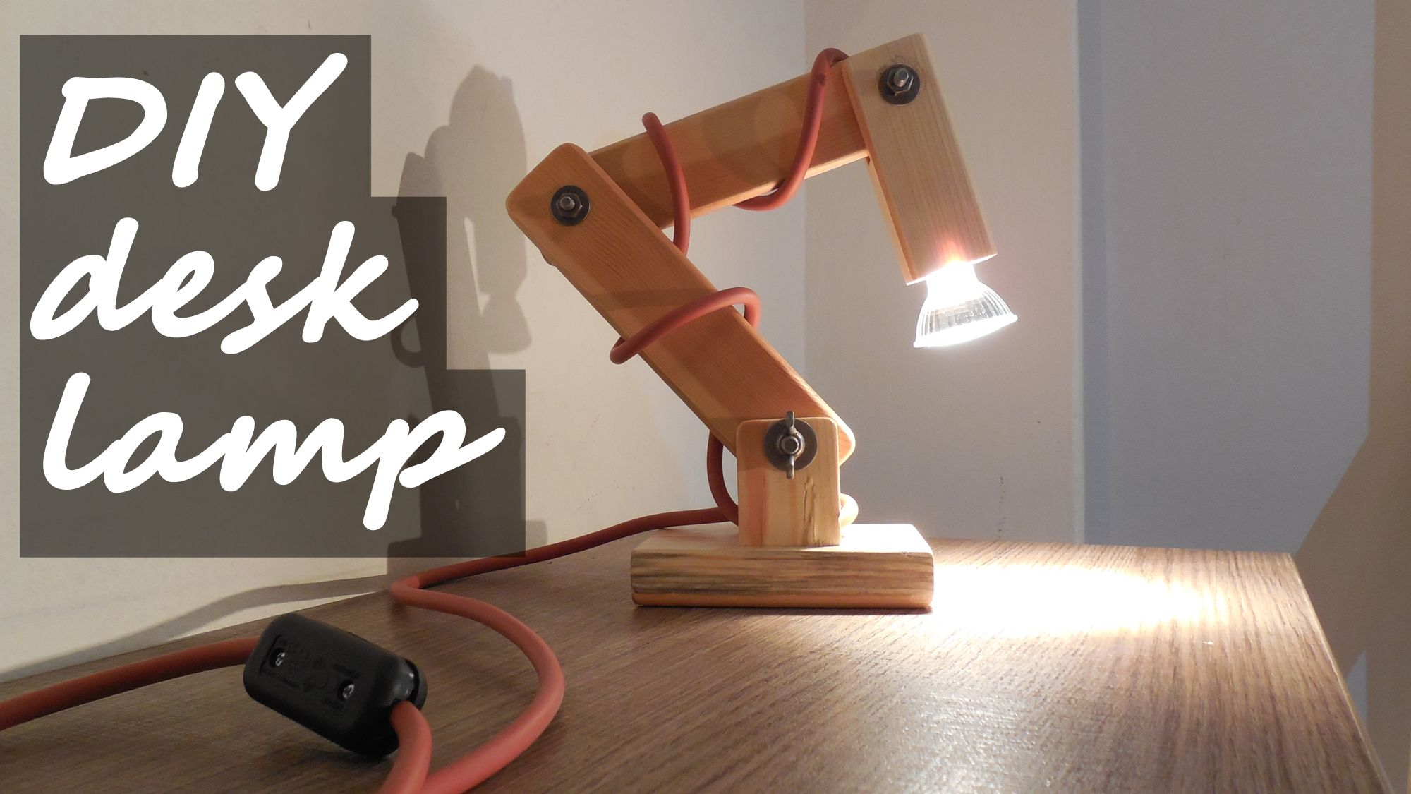 Diy Articulated Wooden Desk Lamp With Gu10 Bulb Diy Diylamp Desklamp Diydesklamp Lamp Woodenlamp Woodendesklamp Articu Wooden Desk Lamp Desk Lamp Lamp