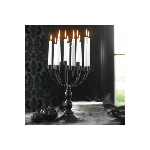 Grandin Road Black Candelabra Halloween Decoration ($39) ❤ liked on - halloween decoration images
