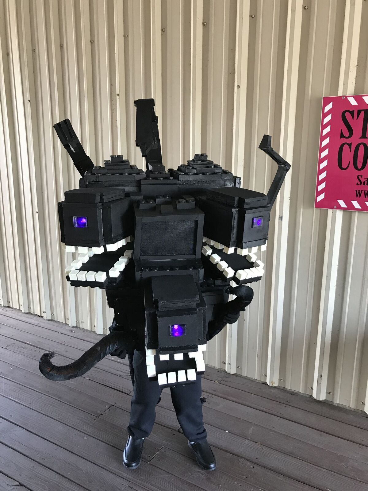 My Son S Minecraft Wither Storm Costume For Halloween Minecraft Halloween Costume Storm Costume Minecraft Wither
