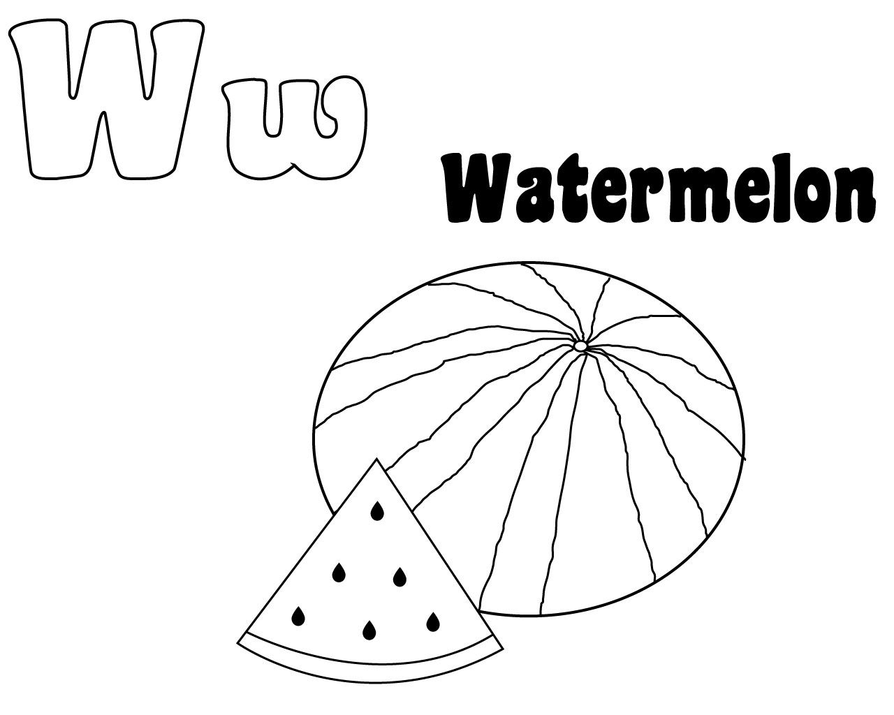 Letter W Coloring Pages Free To Download Coloring Pages Letter
