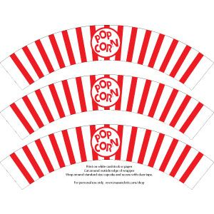 Free popcorn cupcake wrappers together place the already free popcorn cupcake wrappers together place the already baked cupcakes into pronofoot35fo Choice Image