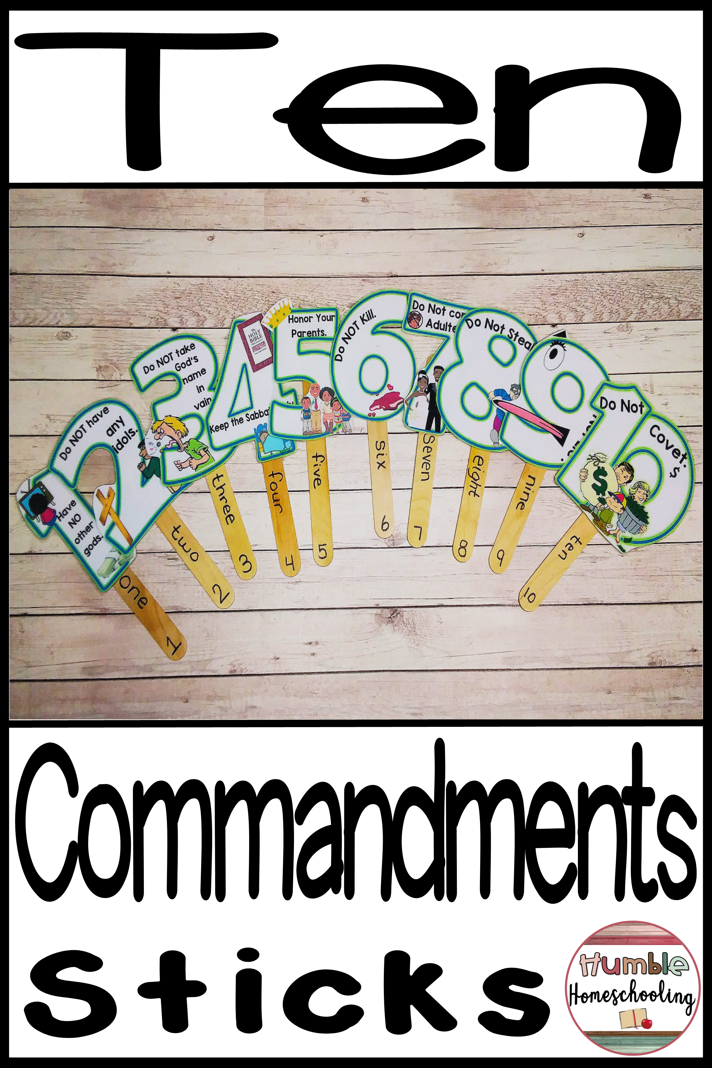 The 10 Commandments   Humble Homeschooling Learning Resources   Kids