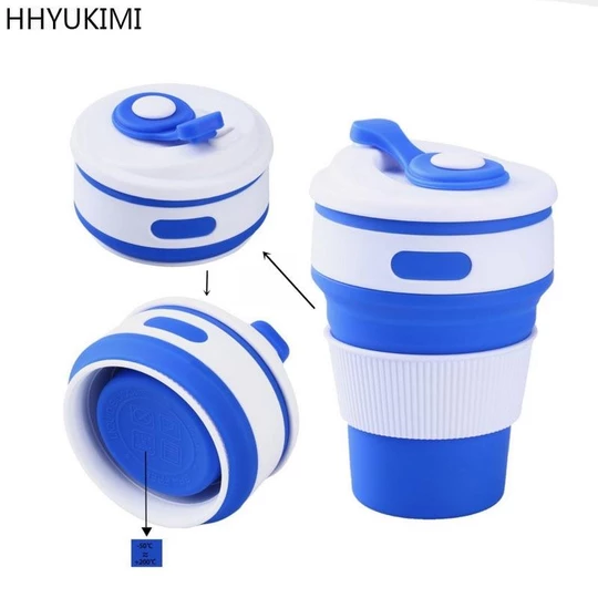 Silicone Cup Collapsible Travel Folding Portable Camping Outdoor Water Coffee
