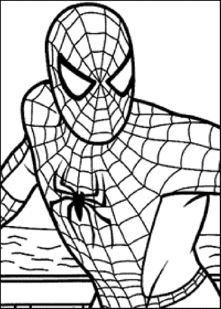 painting pages to print | Posted in Coloring Pages Tagged Spiderman ...
