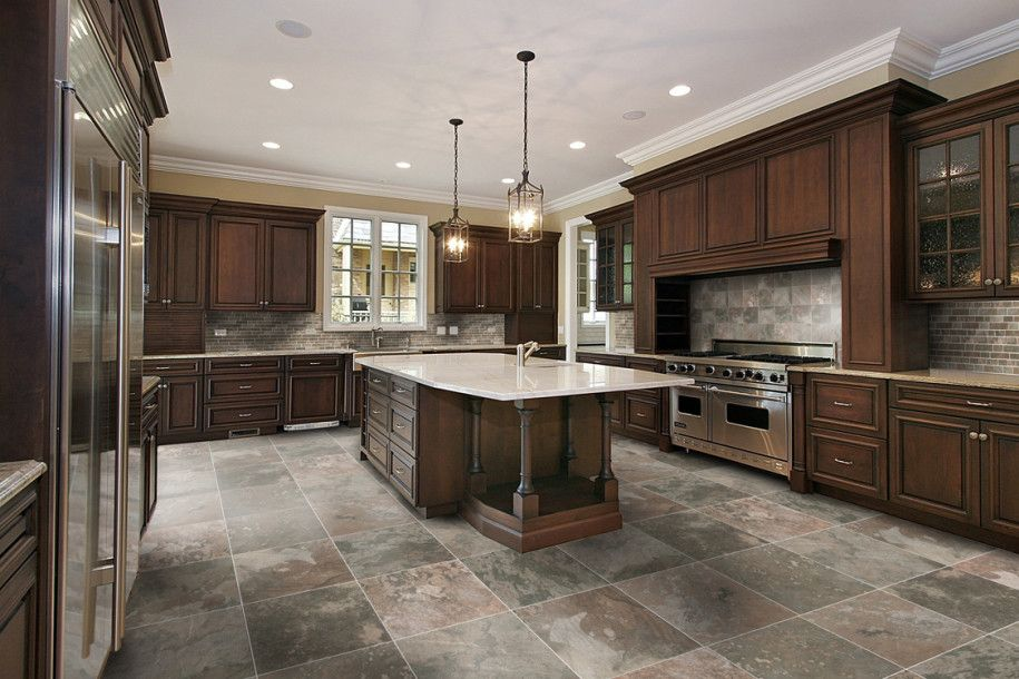 slate floor for kitchen | california orchard company | pinterest