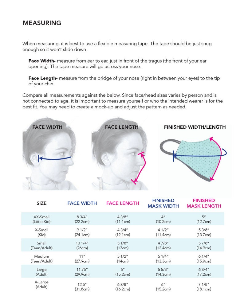 Photo of FREE (See Details) Face Mask Sewing Pattern • PDF Sewing Pattern • Kid, Child, Teenager, Adult • Peanut Patterns #65 Face Mask