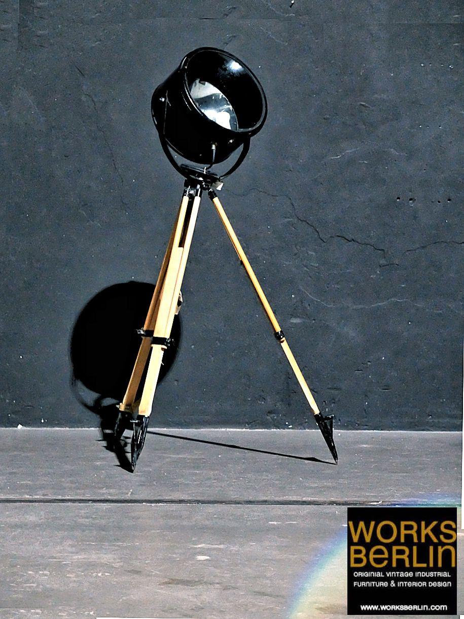 Frontlicht design vintage filmscheinwerfer  fabriklampen alt kaufen bei worksberlin