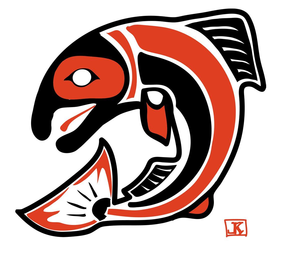Coho Salmon Symbols And Signs Native Art Art Salmon