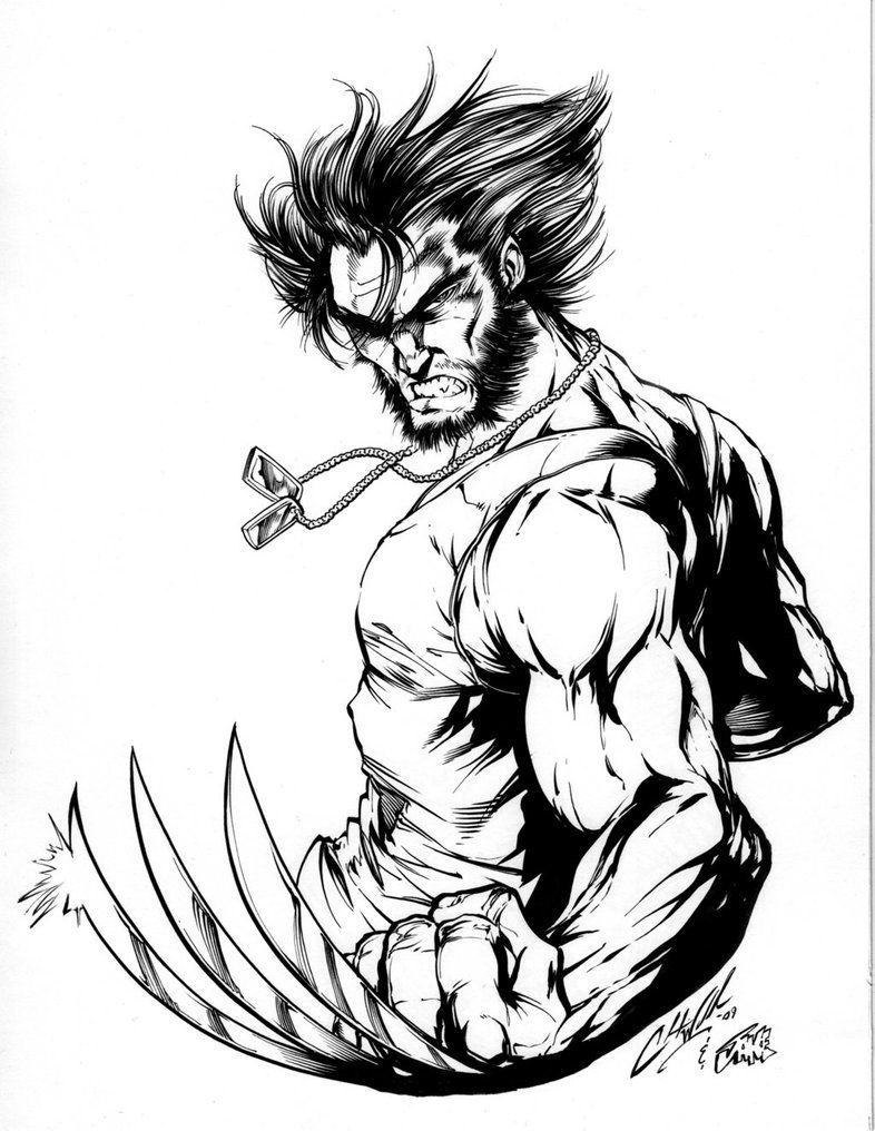 wolverine by inker guy on deviantart arte comic en tinta marvel