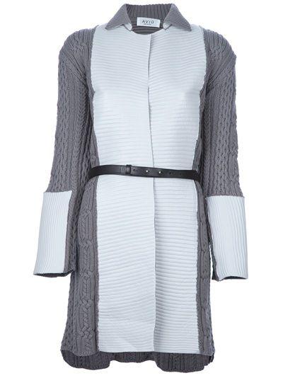 AVIÙ Textured Knit Coat