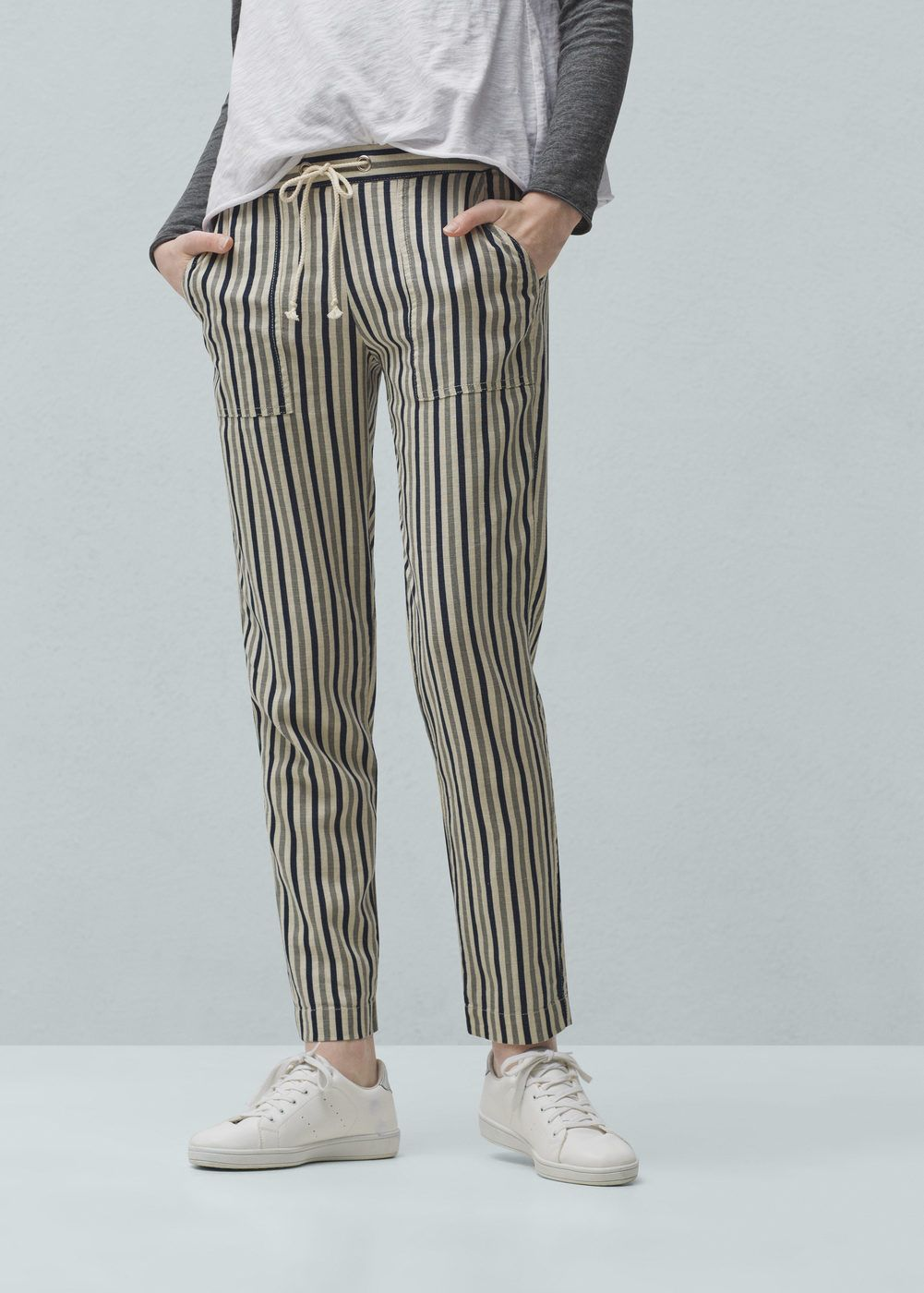 ddc2ecb2b701 Striped linen-blend trousers - Women | Black Tie White Noise (David ...
