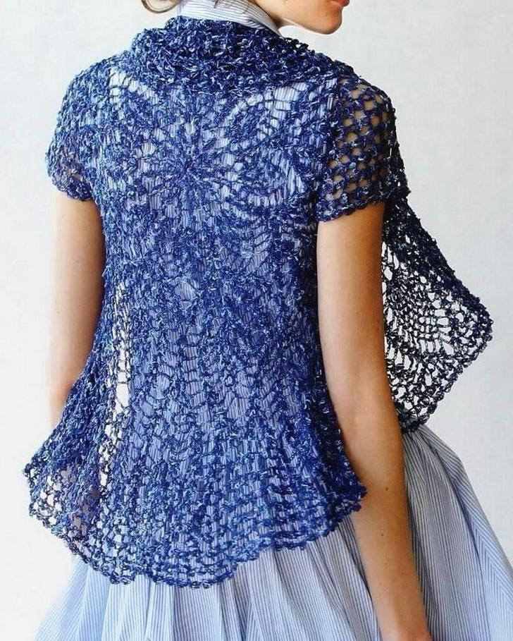 Crochet lace flounce dress patterns