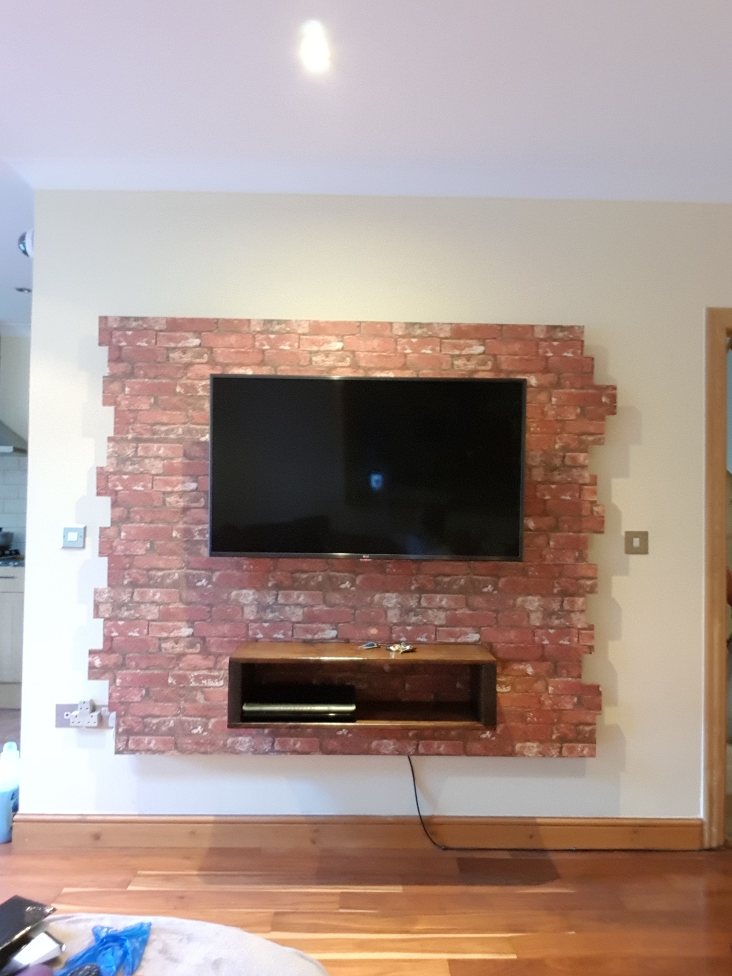 tv wall tv board brick wall design brick wall paper tv shelf tv backboard diy wall ideas. Black Bedroom Furniture Sets. Home Design Ideas