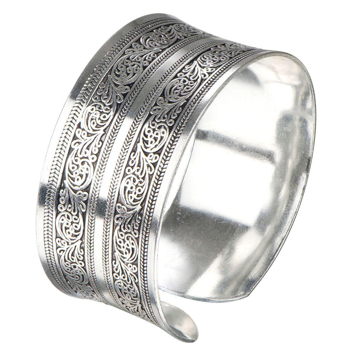 Kanya's Silver Filigree Tribal Vintage Cuff Bracelet