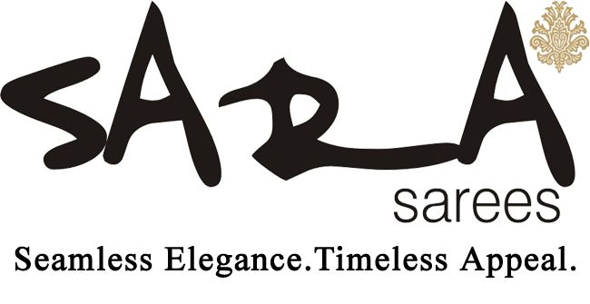 The complete logo of Sara Sarees along with its tagline, 'Seamless