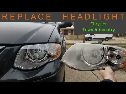 35 Replace Headlight Chrysler Town Country Dodge Caravan Youtube Chrysler Town And Country Town And Country Chrysler