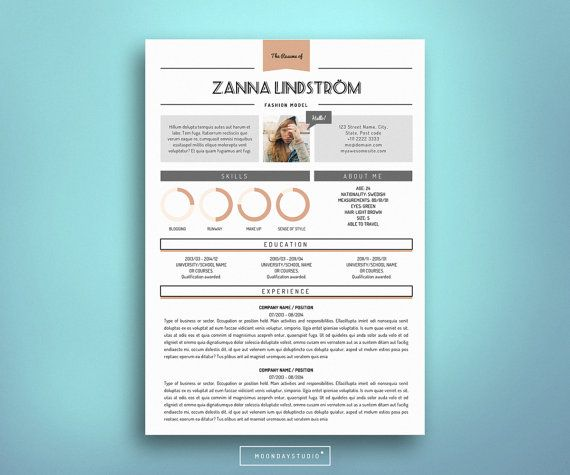 Resume CV & Cover Letter Template for Word 4 by MoondayStudio ...