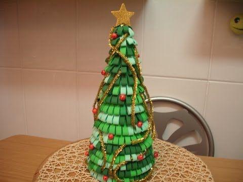 Como hacer arbol de navidad con goma eva youtube foamy for Manualidades con goma eva para navidad