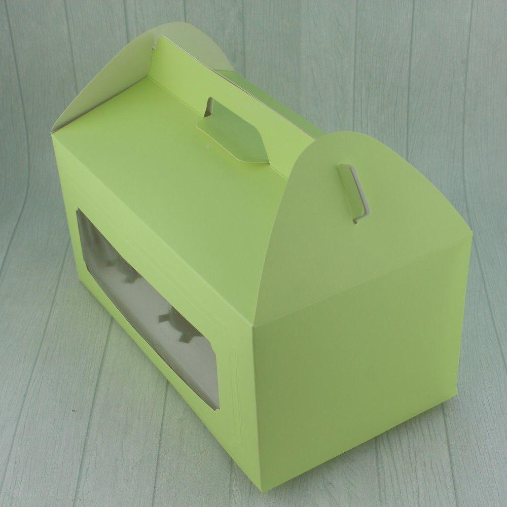 علبه كب كيك خضراء بنافذه ٦ قوالب العدد 12 الحجم 27 15 5 13 متوفرة لدى موقع صفقات موقع متخصص بأدوات ومستلزمات التغليف التغلي Step Stool Decor Home Decor