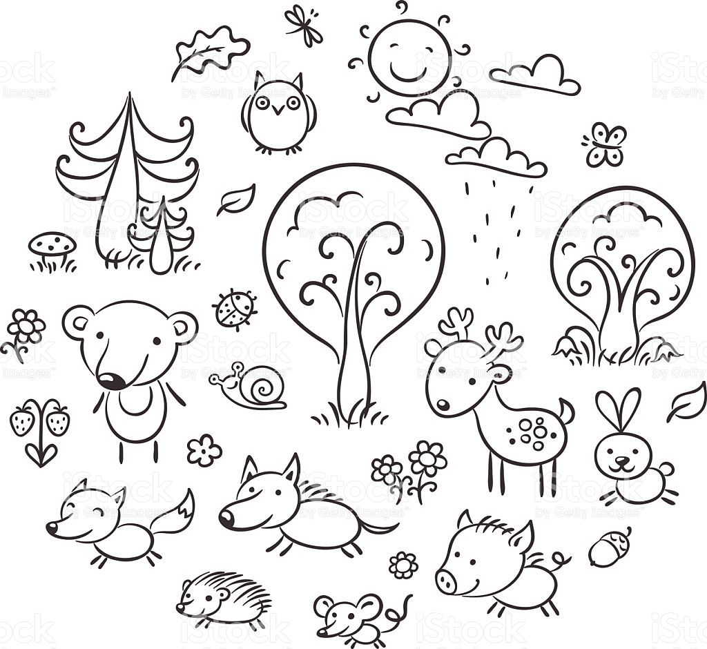Forest Clip Art Black and White