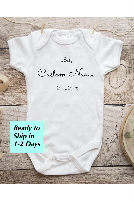 Custom Baby Shirt Custom Onesie\u00ae Baby Shower Gift Custom Baby Announcement   Personalized Onesie\u00ae Custom Baby Onesie\u00ae
