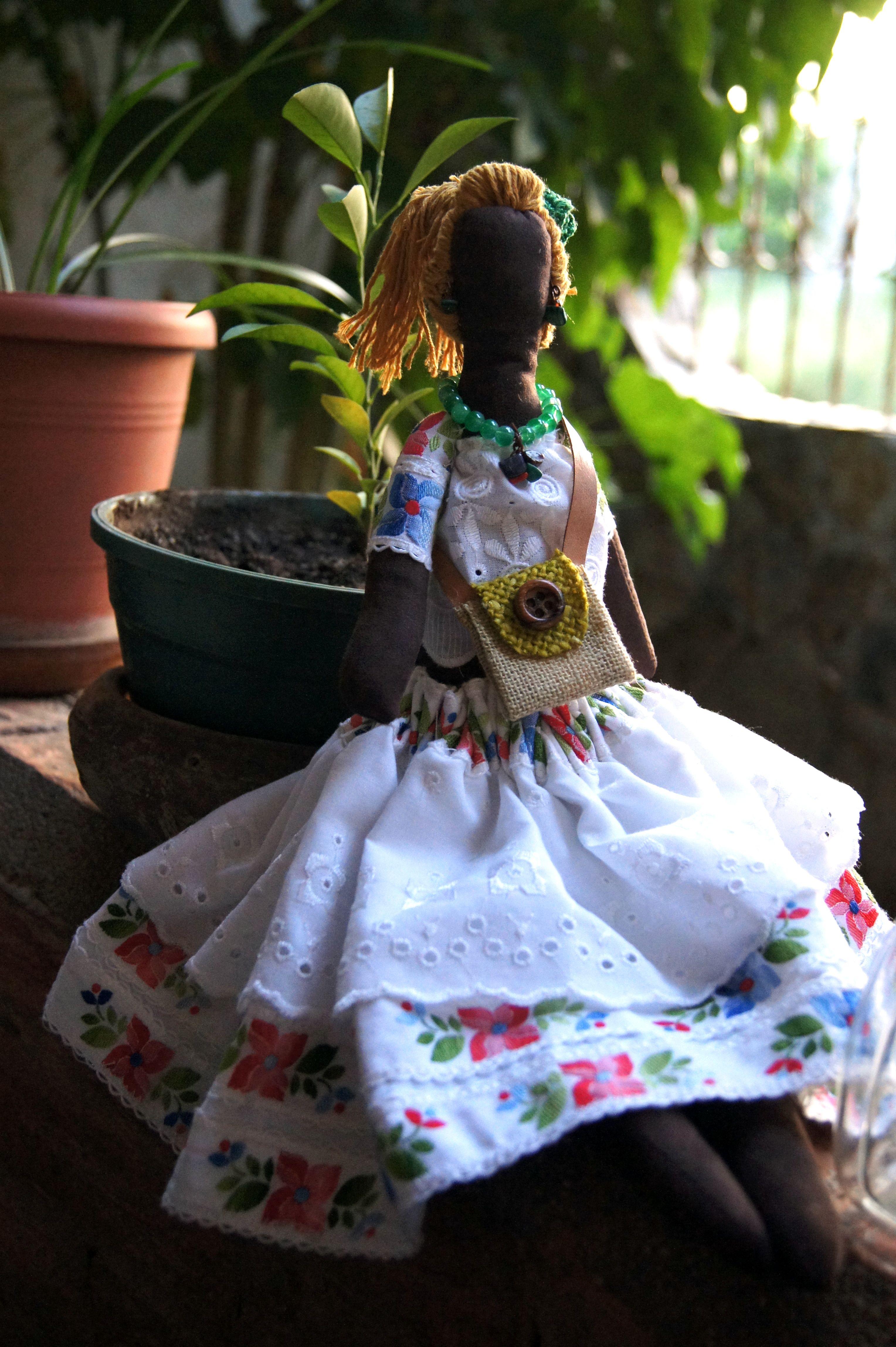 Muñeca Artesanal , piezas unicas, Ganpayela by Guarapita Creativa