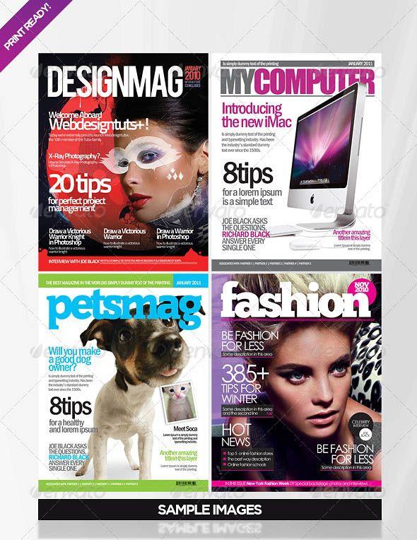 25 Photoshop & InDesign Magazine Cover Templates | (My next )Wedding ...