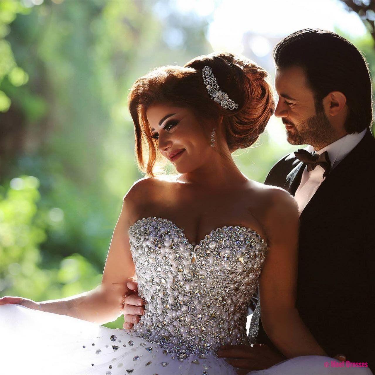 Wedding dresses wedding gownpearl and crystal sweetheart organza