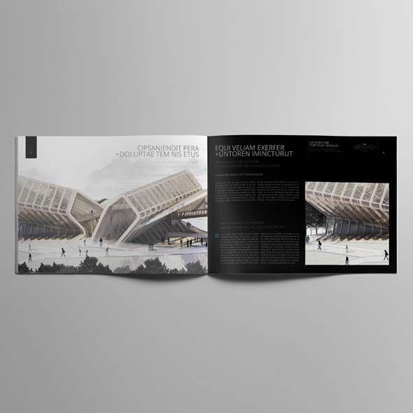 Architecture Portfolio A4 Landscape Template Cmyk Print