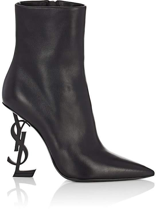 e5f789da Saint Laurent Opyum Leather Ankle Boots in 2019 | Products | Boots ...