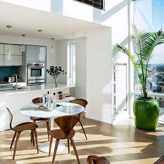 New York Kitchen Design: Be Inspired By Vintage-chic New York Penthouse