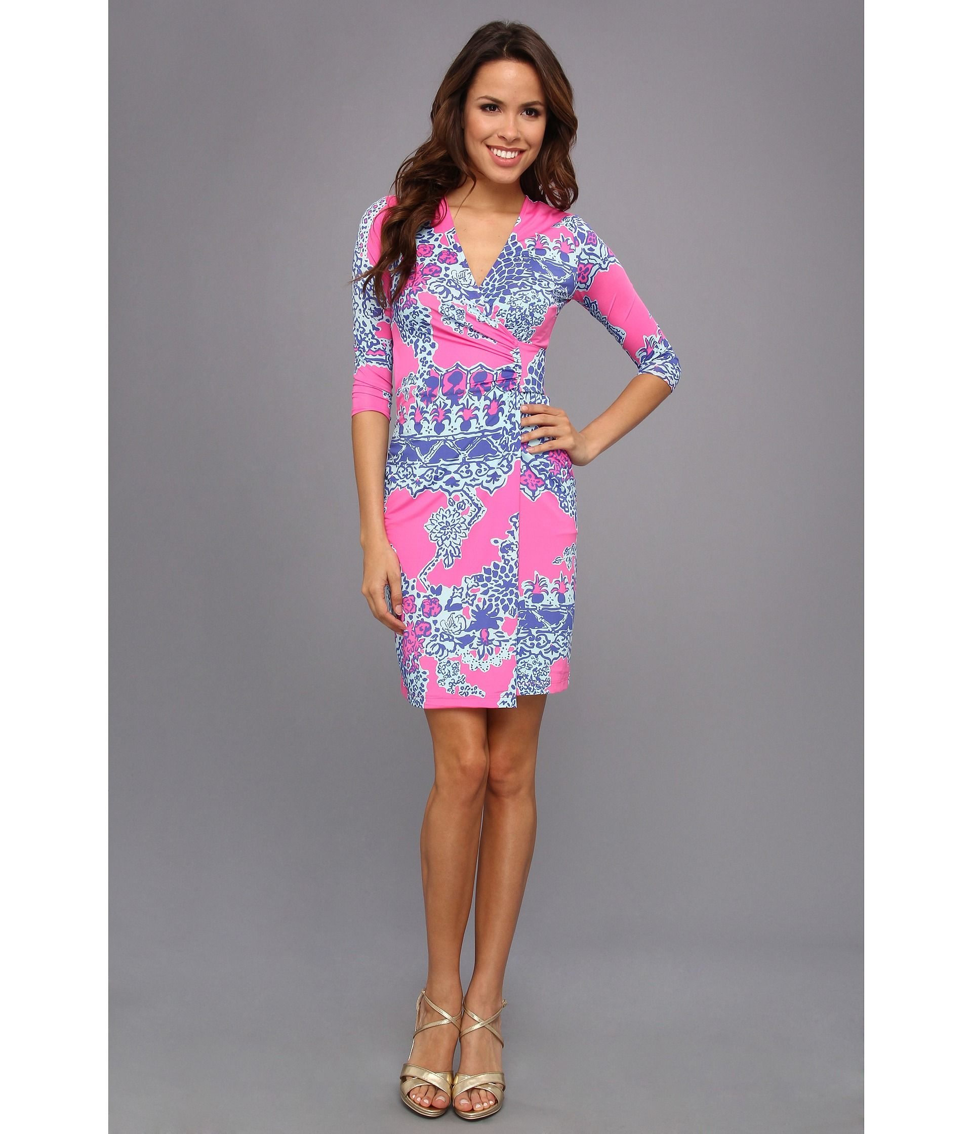 Lilly Pulitzer Yvette Dress Pop Pink On The Square 178 00