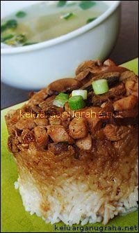 Nasi Tim Ayam Resep Masakan Makanan Masakan