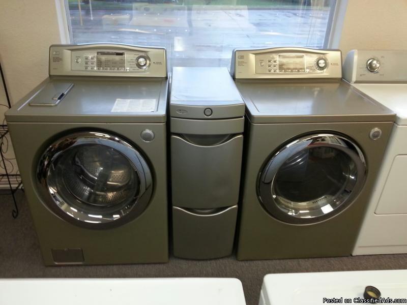 Champagne Color Lg Tromm Front Load Washer Dryer Set 599 Nrh