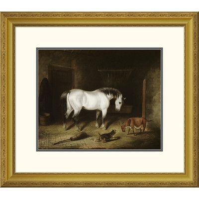 Global Gallery 'White Horse' by John Frederick Herring Framed Painting Print Size: