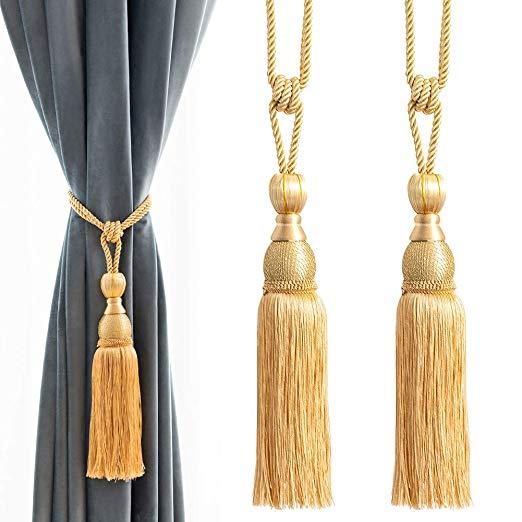 Amazon Com Melodieux Decorative Curtain Tiebacks Ball Tassels