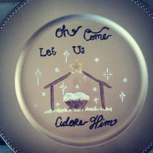 YoursTruly Painted Christmas Plate