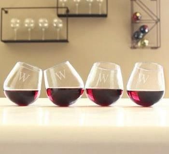 Personalized Tipsy Wine Glasses.