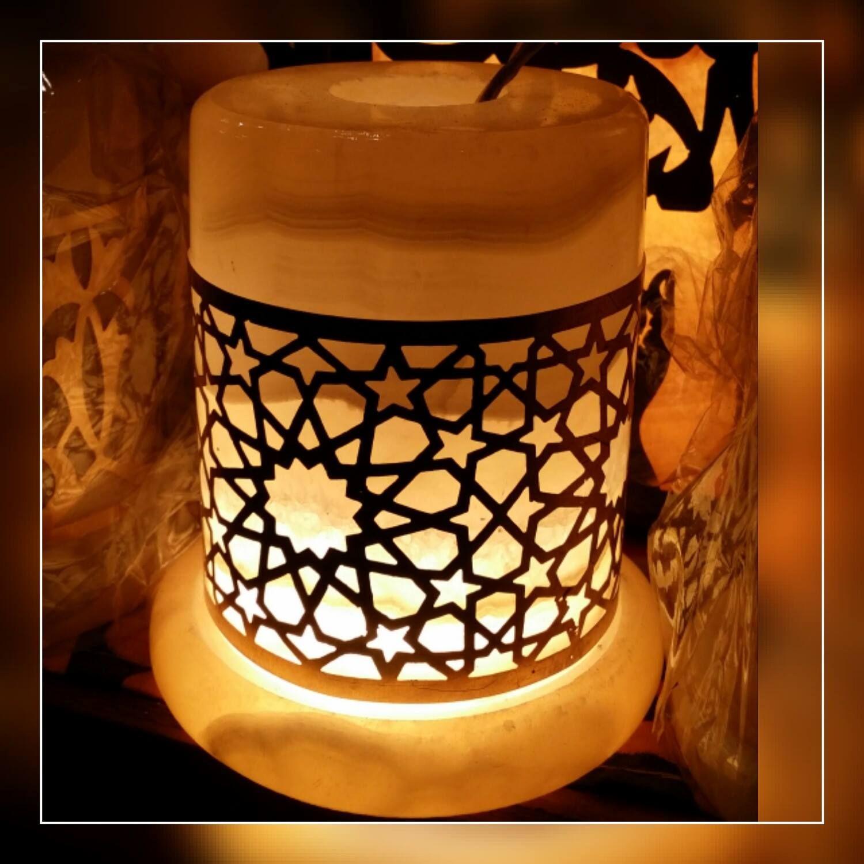 فواحة من الرخام و النحاس بطراز عربي مقاس 8 سم Decor Lamp Home Decor