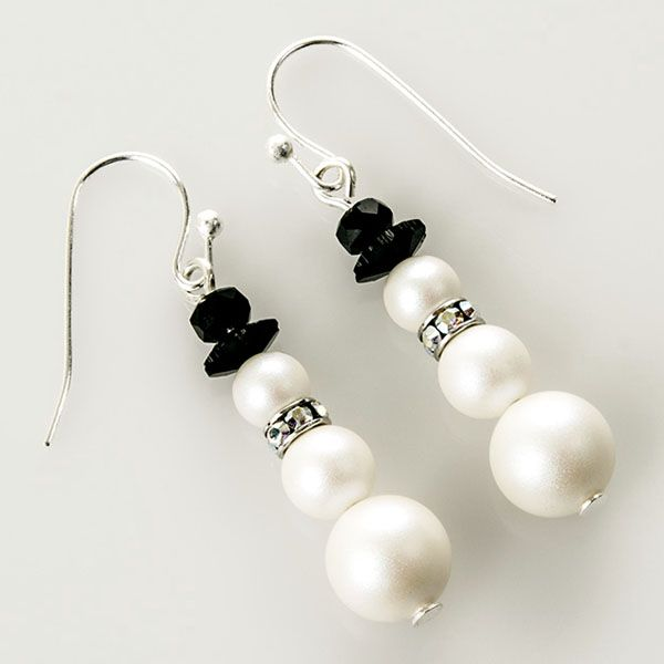 Crystal Pearl Snowman Earrings Tutorial Jewelry Inspiration Rings Things