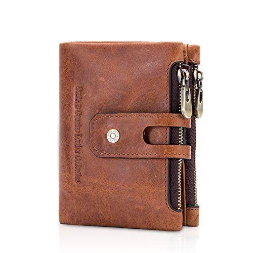 Hommes qualité souple de luxe marron cuir véritable pièce de carte de crédit titulaire wallet