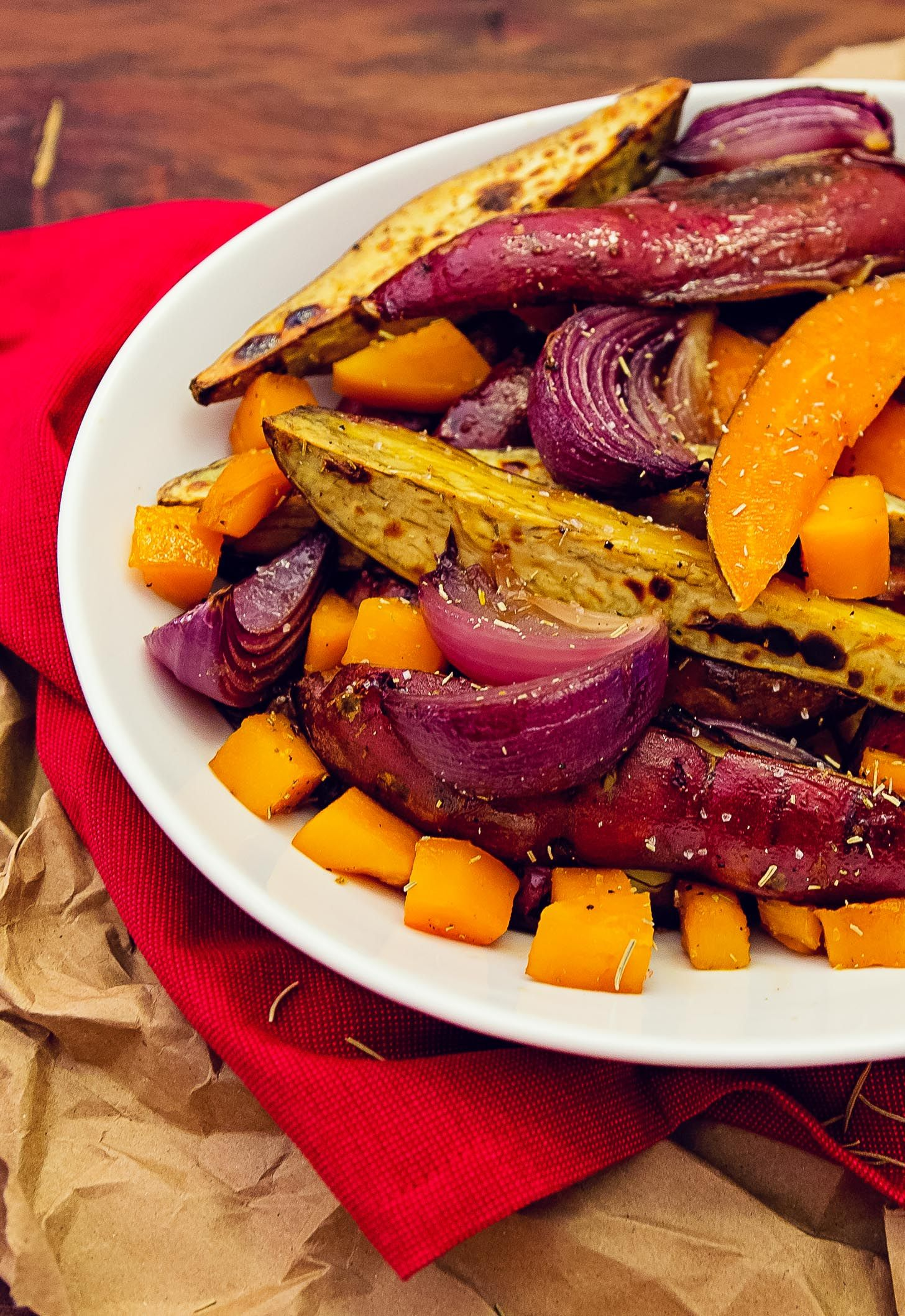 Oven Roasted Rosemary Root Vegetables Recipe Whole
