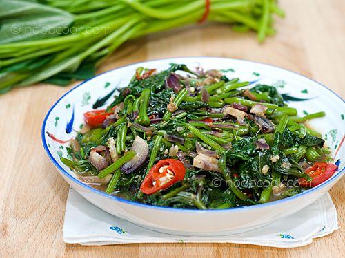 Sambal Sweet Potato Leaf Recipe With Images Sweet Potato Leaves Asian Vegetarian Recipes Yummy Vegetable Recipes