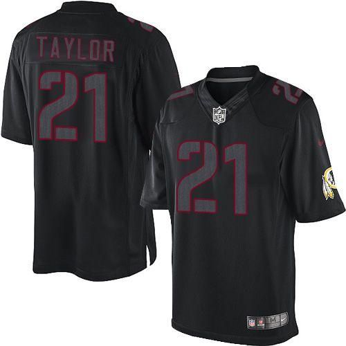 Nike Redskins #21 Sean Taylor Black Men's Embroidered NFL Impact  for cheap