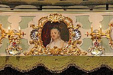 """The figure of Queen Caterina Cornaro above the """"royal box"""" suggested that she is viewing a command performance, America's only 18th-century is now located in Visitors Pavilion at the Ringling Museum estate. The John & Mabel Ringling Museum of Art is an alliance partner with Sister Cities Association of Sarasota. Asolo, Italy is one of the 95 communities twinned with Sarasota andTreviso Province in Italy."""