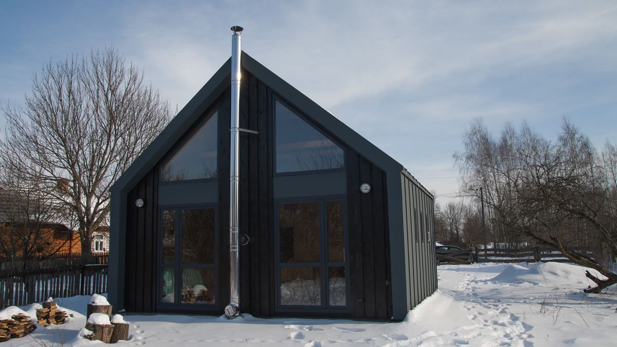 Modernes haus-exterieur-design dom xs  a modern small house from poland for   dream home