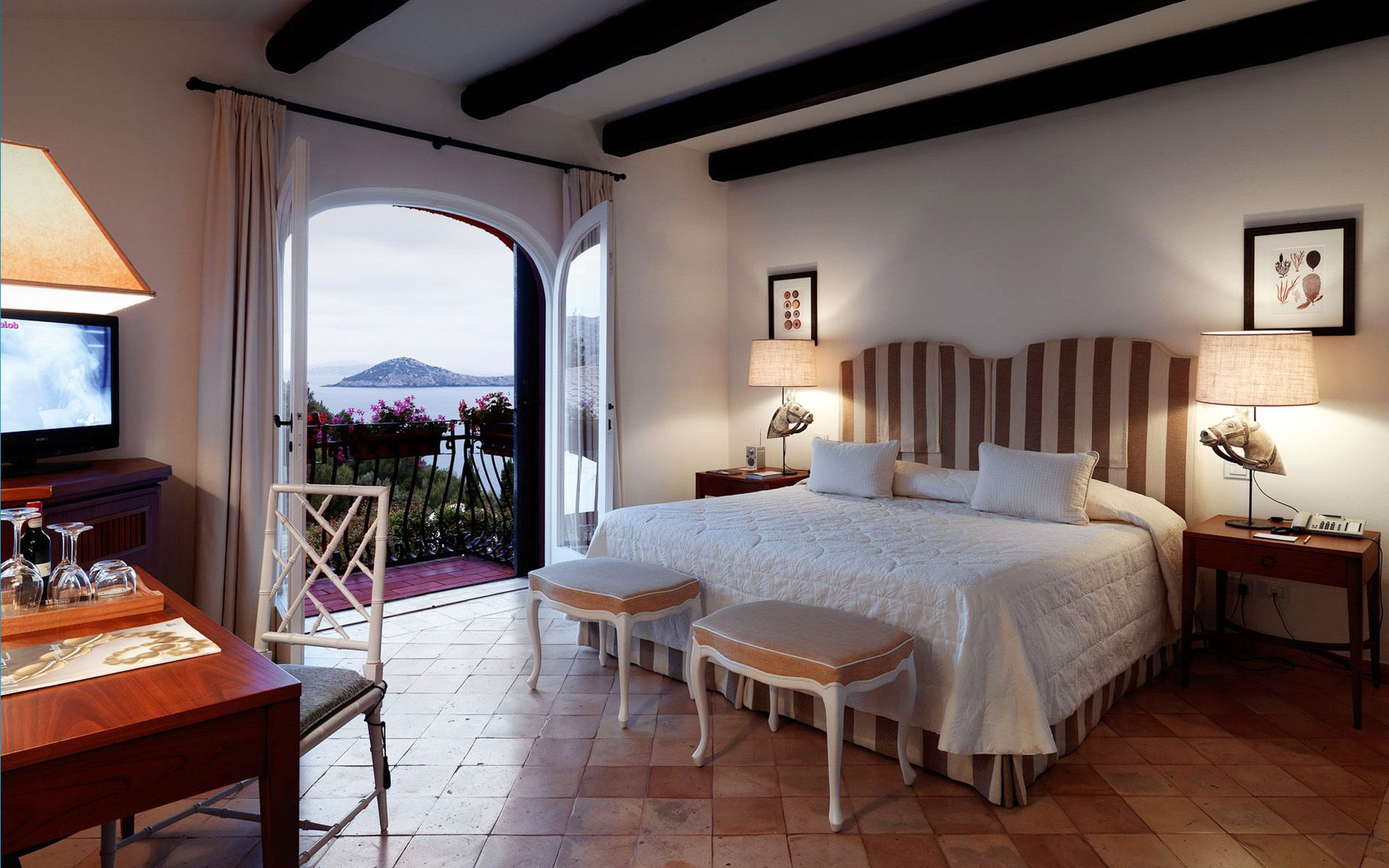 Tuscany luxury accommodation at Il Pellicano, Italy - dream vacation hotel room!