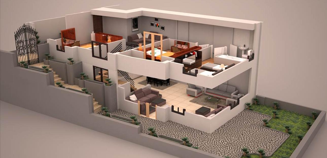 Duplex Plan House Design Kitchen